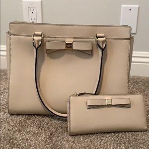 Kate Spade satchel with matching zip wallet